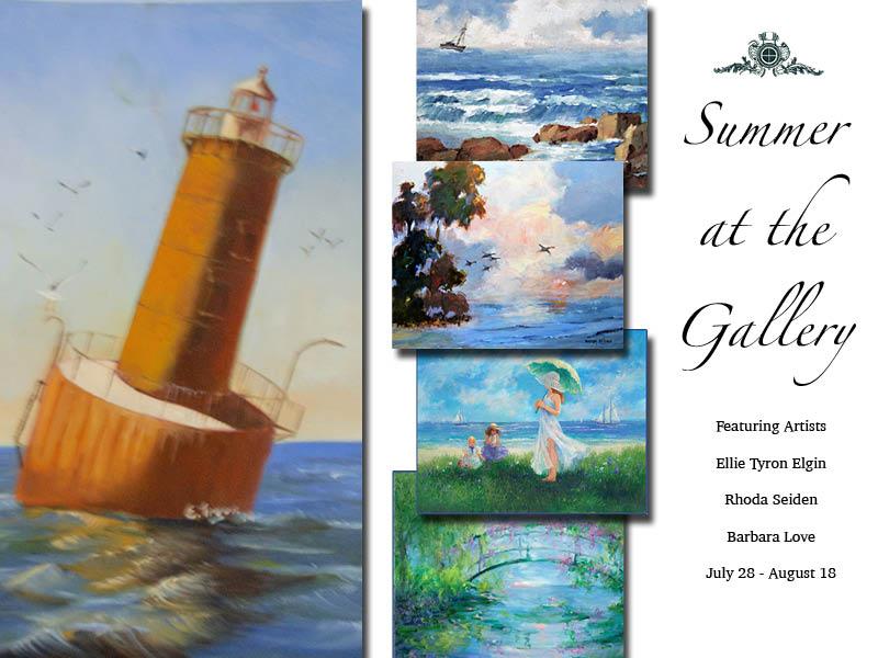 Summer at the Gallery – The art of Ellie Tyron Elgin, Rhoda Seiden, Barbara Love