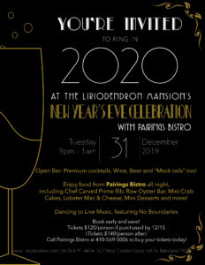 New Year's Eve at the Liriodendron @ The Liriodendron Mansion